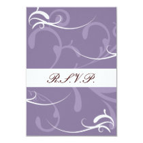 Purple Elegant Wedding Cards