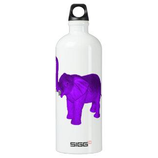 Purple Elephant Aluminum Water Bottle