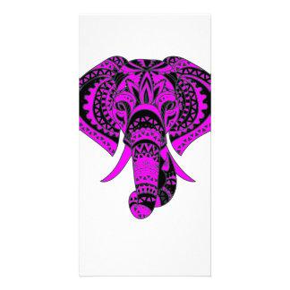 Purple Elephant Animal Card