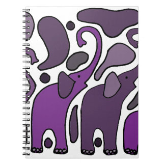 Purple Elephant Art Abstract Note Books