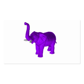 Purple Elephant Business Card Templates