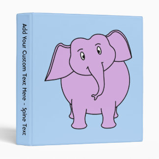 Purple Elephant. Cartoon Binder