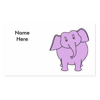 Purple Elephant. Cartoon Business Card