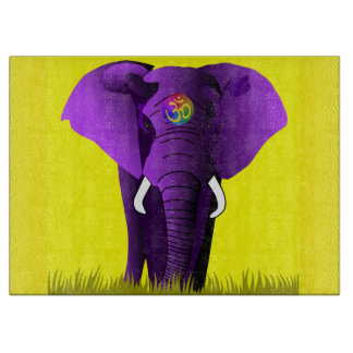 Purple Elephant cutting board
