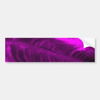 Purple Elephant Ear Textured Look Bumper Sticker