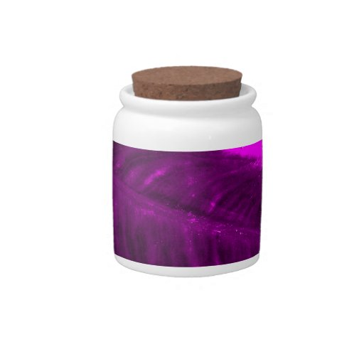 Purple Elephant Ear Textured Look Candy Jars