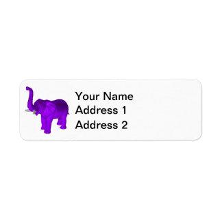 Purple Elephant Label