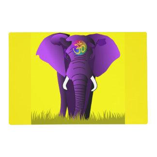 Purple Elephant laminated placemat