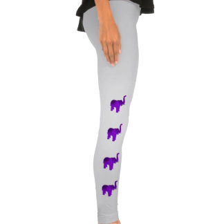Purple Elephant Legging