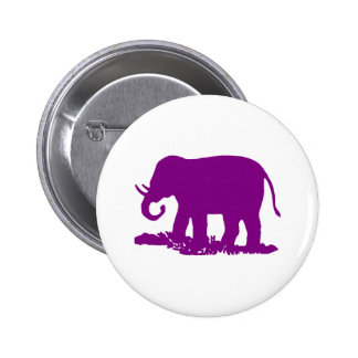 Purple Elephant Pinback Button