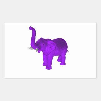 Purple Elephant Rectangular Sticker
