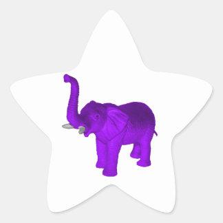 Purple Elephant Star Sticker