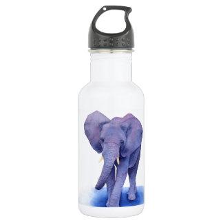 purple elephant watercolor art on multiple items! water bottle