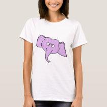 Purple Elephant with Glasses. T-Shirt