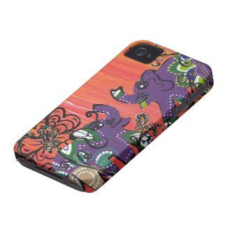 Purple Elephants iPhone Case Iphone 4 Case-mate Cases