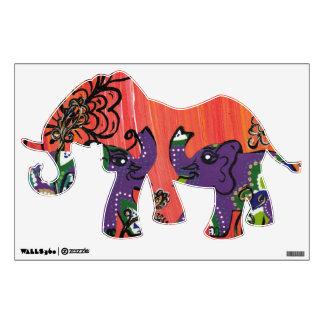 Purple Elephants Wall Decal
