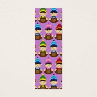 Purple Elf Repeat Bookmark Mini Business Card
