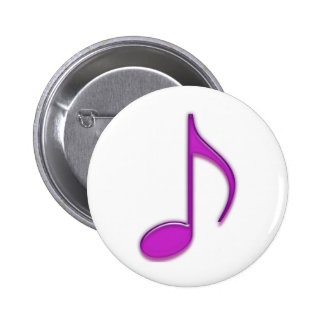 Purple Emboss 8th Musical Note 2 Inch Round Button