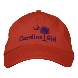 Purple Embroidred Carolina Girl Palmetto Hat