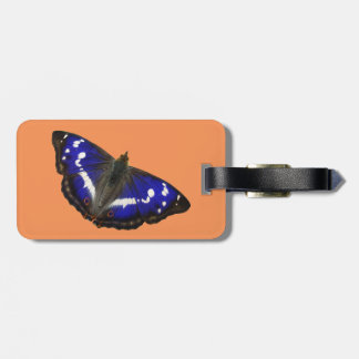 Purple Emperor Butterfly Bag Tag