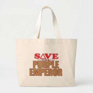Purple Emperor Save Large Tote Bag