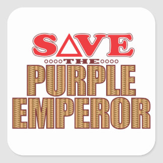 Purple Emperor Save Square Sticker