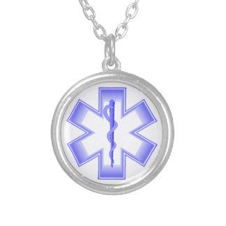 Purple EMT Round Pendant Necklace