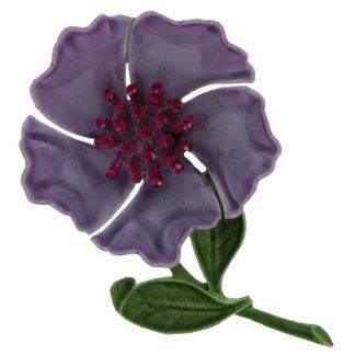 Purple Enameled Flower Magnet