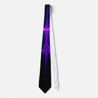 Purple Endo Framework Fractal Neck Tie