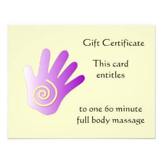 Purple Energy Hand Gift Certificate Invite
