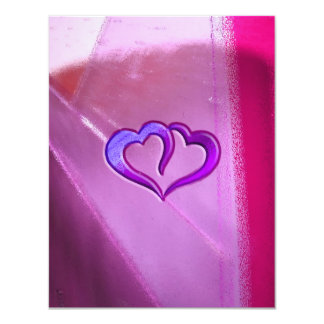 Purple Engraved Hearts Card