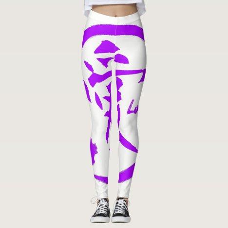 Purple enso   Japanese kanji symbol for love Leggings