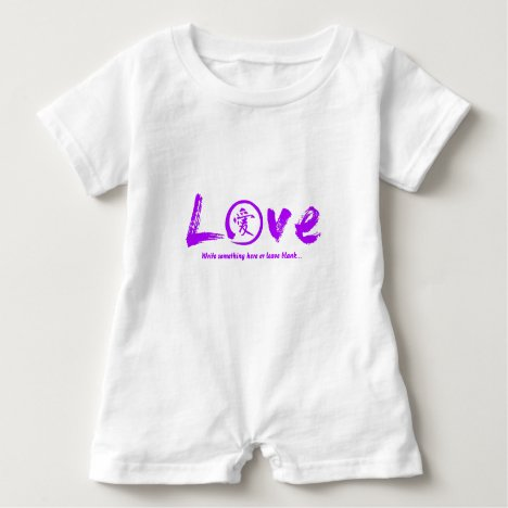 Purple enso zen circle, Japanese symbol for love Baby Romper