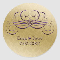 purple envelope seal
