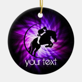Purple Equestrian Ceramic Ornament