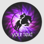 Purple Equestrian Classic Round Sticker