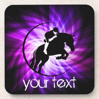 Purple Equestrian Drink Coaster