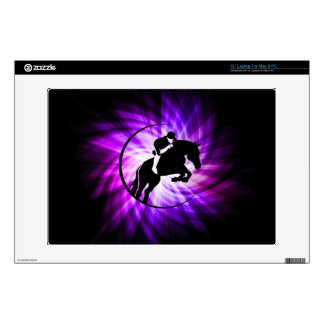 Purple Equestrian Laptop Skin