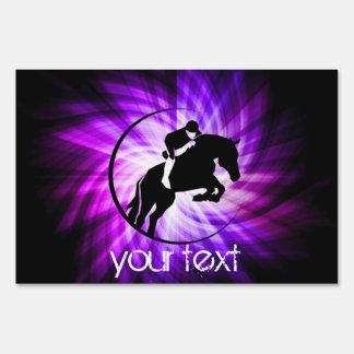 Purple Equestrian Yard Sign