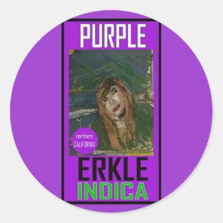 PURPLE ERKLE INDICA STICKER