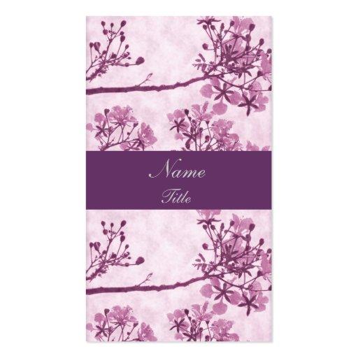 Purple Eternal Bliss Business Card