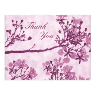 Purple Eternal Bliss Thank You Postcard