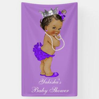 Purple Ethnic Little Princess Baby Shower Banner