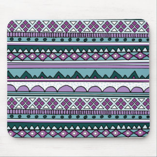 Purple ethnic pattern mouse pad