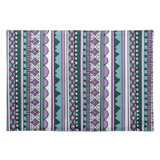 Purple ethnic pattern place mats