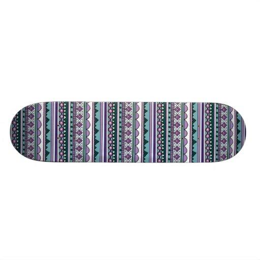 Purple ethnic pattern skate board