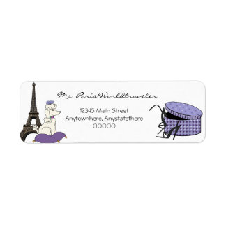 Purple Evening in Paris Eiffel Tower Address Label