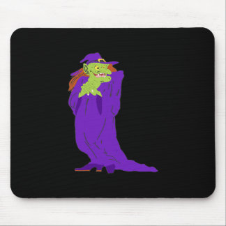 Purple Evil Witch Mouse Pad