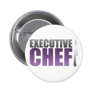 Purple Executive Chef Pinback Button