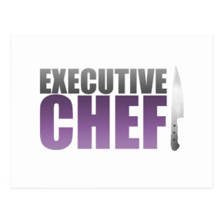 Purple Executive Chef Postcard